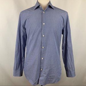 John Varvatos Slim Fit Blue Striped Dress Shirt